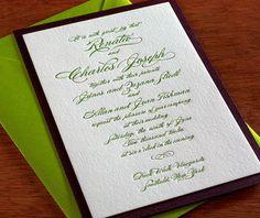 formal letterpress wedding invitation by invitations by ajalon