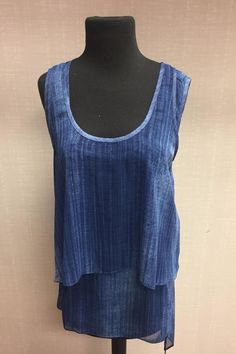 2 pc  sheer sleeveless top  uneven bottom  slit back 2-Pc  Top by Joseph Ribkoff. Clothing - Tops - Sleeveless Pittsburgh Pennsylvania