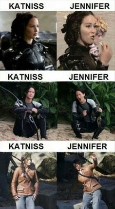 Katniss vs Jenifer Lawrence.