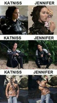 Katniss vs Jenifer Lawrence.