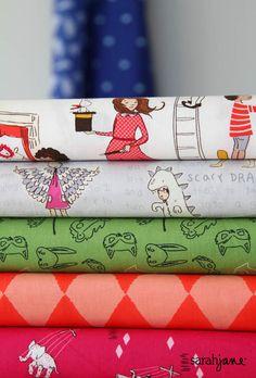 New Fabric Line: Let's Pretend Spring 2013    Sarah Jane
