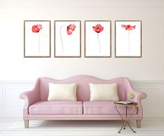 Set of 4 Poppies, Flower Painting, Red Poppy Watercolour, Floral Wall Art, Abstract Flower, Home Decor, Art Prints, Flowers Art, Wall Art Print https://www.etsy.com/listing/581162294/set-of-4-floral-prints-set-of-4?ref=shop_home_active_7 Shop A
