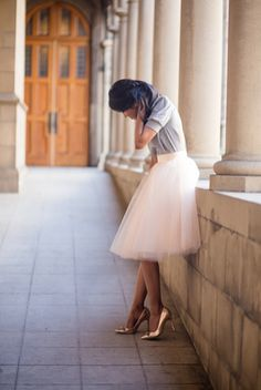 The prettiest tulle skirt I ever did see. From Space 46 Boutique.