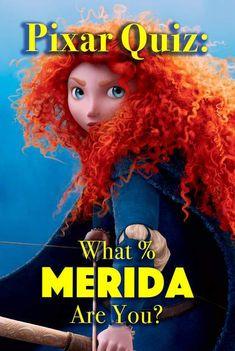 Pixar Personality Quiz: What % Merida Are You? Disney Quiz, Disney Facts, Disney Pixar, Brave Princess, Princess Merida, Disney Princess, Random Quizzes, Fun Quizzes, Disney Personality Quiz
