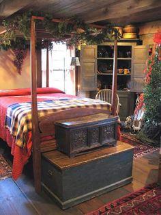primitive homes decor Primitive Bedroom, Primitive Homes, Primitive Furniture, Primitive Country, Primitive Antiques, Country Furniture, Prim Decor, Country Decor, Country Homes