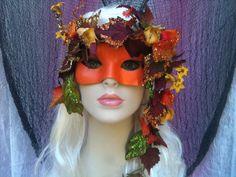 OREADS - (mountains, grottoes) Land Nymph Masquerade Mask. $50.00, via Etsy.