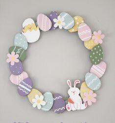 Easy DIY paper Easter egg wreath - Easter decoration // Egyszerű húsvéti tojás koszorú papírból - kreatív ötlet gyerekeknek // Mindy - craft tutorial collection // #crafts #DIY #craftTutorial #tutorial
