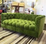 green, sofa, furniture, modern
