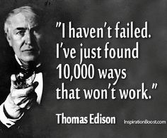 In the words of Mr Edison