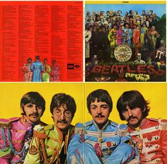 Sgt. Pepper's Lonely Hearts Club Band - 1967 Cover by MC Productions and The Apple staged by Peter Blake and Jann Haworth photographed by Michael Cooper Wax Figures by Madame Tussauds