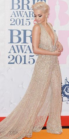 Look of the Day - February 26, 2015 - Rita Ora in Zuhair Murad Couture from #InStyle