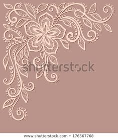 beautiful floral pattern, a design element in the old style. beautiful floral pattern, a design element in the old style. Cushion Embroidery, Silk Ribbon Embroidery, Hand Embroidery Patterns, Vintage Embroidery, Machine Embroidery, Embroidery Sampler, Motif Floral, Satin Stitch, Flower Patterns