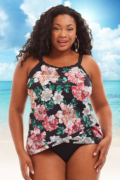 46cee3b7ae Let your fabulous beach day blossom in this Shape Solver Plus Size Bloom  Country Cross Over