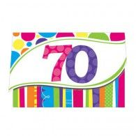 70th Birthday Invitations (8pk) $10.50 20890072