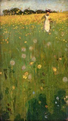 "Sir William Nicholson ""The Dandelion Field"""
