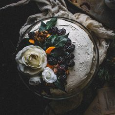 This Blackberry Dark Chocolate Avocado Cake with a Swiss Meringue Rose Water Buttercream is sweet, decadent, and so delicious.