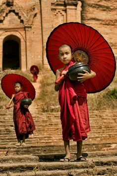 "The Most Beautiful Photographs Of 2014 Mingun Village, Myanmar ""Novice Monks""- April Badilles"