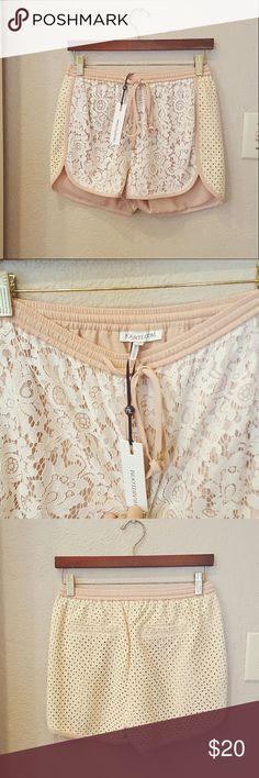 Heartloom NWT White Lace Eyelet Jogger Shorts Heartloom NWT Lace Shorts Brand new, store shelf condition. Size XS Heartloom Shorts