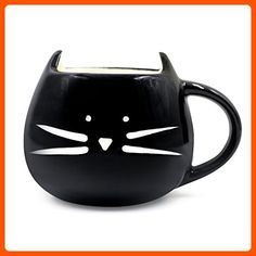 Teagas Lovely Cute design Morning Cat Mug,Glossy Black 350ml - Fun stuff and gift ideas (*Amazon Partner-Link)