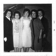Patsy with a group of fans in Canada..Circa early 1960's..