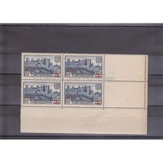 Timbres-Poste Carcassonne BF de 4 N°Yvert 490 French vintage postal stamps of Carcassonne, France.