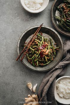 Blistered and charred green beans are tossed with an aromatic sauce, making this dish too good to pass up, and it's substantial enough to serve as a main.