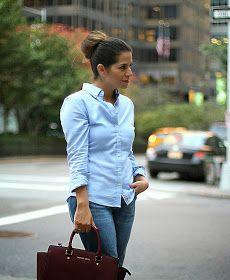 NYC Fashion Blogger; boyfriend jeans; oxford shirt; how to wear boyfriend jeans; zara pumps; michael kors selma; Michael Kors; Jcrew necklace; jcrew; current elliott