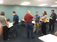 "Our employees lined up to get their copy of ""Engagement Marketing"" signed by Gail Goodman!"