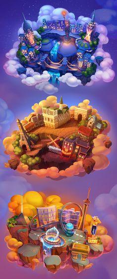 Flying Islands on Behance