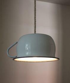 Pendant Potty Lamp  Toilet Light  upcycled enamel by LOTofDesign