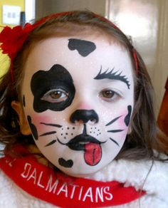 Dalmatian Face Painting and costume | Flickr - Photo Sharing!