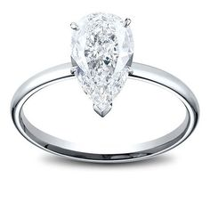 Solitaire Pear Shape Diamond Engagement Ring 1.35 Ct 1860
