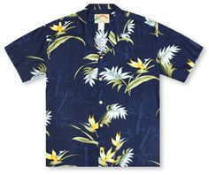 Paradise Found Hawaiian Shirts From Aloha Shirt Shop | Paradise Found Bamboo Paradise - Blue | PF-19