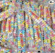 Amazon.com : CrazyOutlet Smarties Hard Candy Necklaces, Gluten-Free, Fruit Flavor, Pastel Color Accessories, Individually Wrapped, 40 Count, 2 Lbs : Grocery & Gourmet Food Bulk Candy, Hard Candy, Best Korean Food, Hawaiian Shaved Ice, Minnie Mouse Toys, Junk Food Snacks, Candy Necklaces, Baby Doll Clothes, Favorite Candy