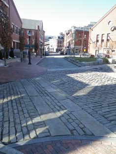Old Port, Portland. I love the cobblestone streets and brick sidewalks!