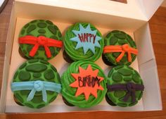 Yummy Teenage Mutant Ninja Turtle Cake Ideas : Ninja Turtles Cupcakes
