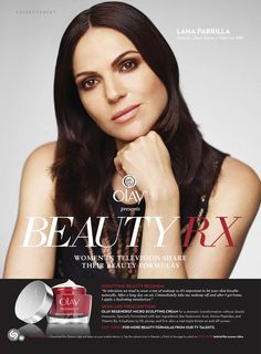 'Elle US' scan of Lana's ad for Olay