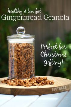 Combining the warm, comforting flavour of your favourite Gingerbread Cookie with Crunchy Granola, this Healthy Gingerbread Granola is low fat, low sugar, gluten free and absolutely delicious! Perfect for Christmas Gifting or keeping for yourself!