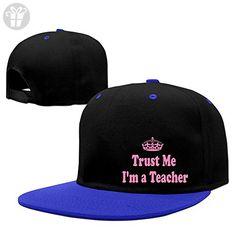 Unisex Trust Me I'm A Teacher Hip Pop Baseball Cap Contrast Color RoyalBlue (*Amazon Partner-Link)