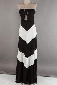 Black and White Color Blocked Dress | Happy Gal