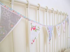 Shabby Chic Fabric Bunting - from baby to go (via Etsy)