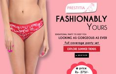 SHOP NOW! sensational panty to keep you looking gorgeous as ever full coverage pantyset at prestitia.for more visit http://www.prestitia.co.in/