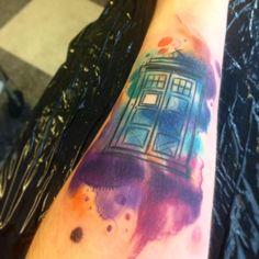 Back of Left Calf Dream Tattoos, Time Tattoos, New Tattoos, Tatoos, Lock Tattoo, I Tattoo, Tardis Tattoo, Bff Tats, Doctor Who Tattoos