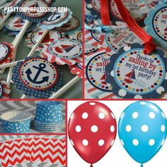 Nautical Birthday Party Decorations Package by PartyOnPurposeShop