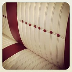 Upholstery Red White Leather Custom Car Show Margaret Hunt Hill Bridge Grand Opening Dallas Texas