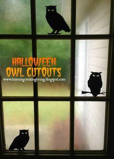 Halloween Owl Cutouts