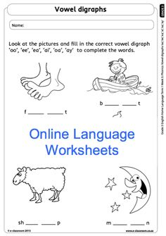 Education worksheets for Grade R - 12 - E-Classroom Social Science, Science And Technology, Vowel Digraphs, 3 Online, School Worksheets, Afrikaans, Grade 3, Life Skills, Language