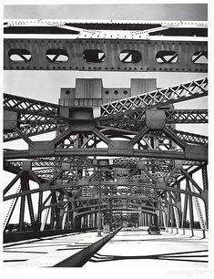 Who: Berenice Abbott What: Triborough Bridge, Why: i like network of metal patterns Monochrome Photography, Modern Photography, Artistic Photography, Black And White Photography, Street Photography, Architectural Photography, Berenice Abbott, Man Ray, Eugene Atget