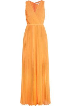 Plissé chiffon gown by Halston Heritage