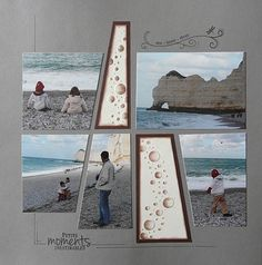 Love this scrapbook page Beach Scrapbook Layouts, Travel Scrapbook Pages, Paper Bag Scrapbook, Vacation Scrapbook, Scrapbook Designs, Scrapbook Albums, Scrapbooking Layouts, Scrapbook Cards, Picture Scrapbook
